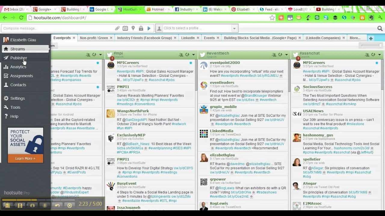 Bulk Schedule Messages on HootSuite - YouTube