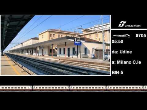Annunci Trenitalia dalla stazione di Udine