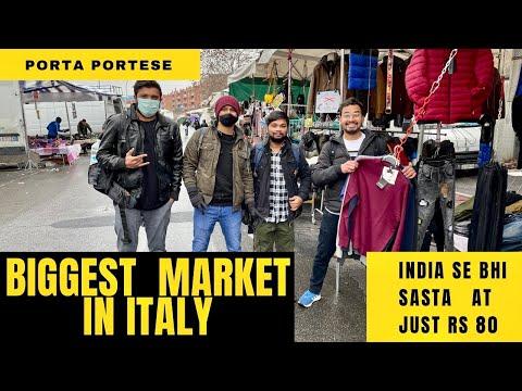 2 km Long Sunday Market in Rome - Porta Portese.