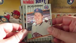 Breaking 5 packs of 1989 Fleer Baseball searching for Billy Ripken!?