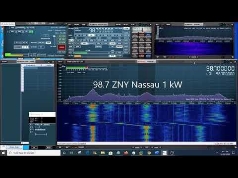FM Radio bandscan from shipboard location near Nassau in the Bahamas using SDRPlay SDR receiver
