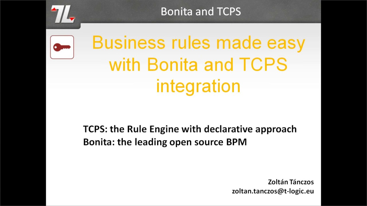 Business rules integration with Bonita and TCPS