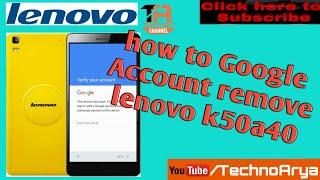 Lenovo K50a40 K3 Note - FRP Unlock Done 100% Working Method - Unlock