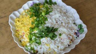 Крабовый салат с сухариками. Очень Вкусный!