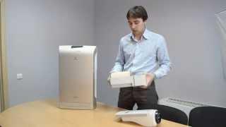 видео Очиститель воздуха Panasonic F-VXH50R-W