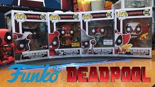 Funko POP! Deadpool Panda, Wizard, Clown, Samurai (Gamestop, Hot Topic, Barnes & Noble Exclusives)