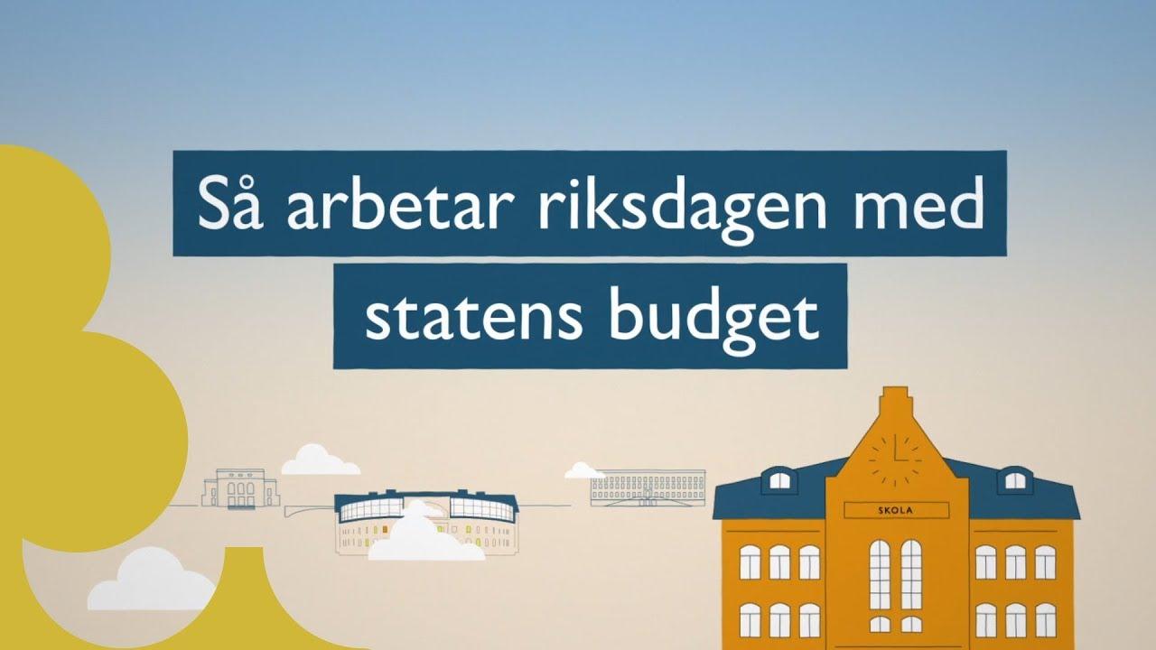 Film från Sveriges riksdag om hur riksdagen arbetar med statens budget