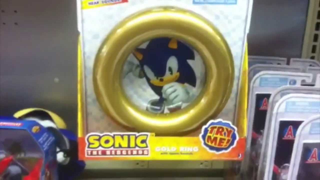 Sonic Gold Ring Toy With Sound Preview Youtube