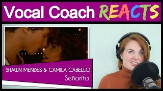 Vocal Coach reacts to Shawn Mendes & Camila Cabello Perform 'Señorita'   2019 Video Music Awards