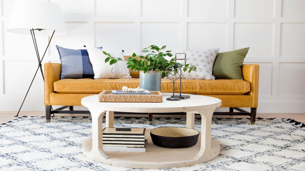 Round Coffee Table Styling 1