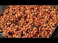 Street Food India - Roasted Cashew Nut Fry Recipe - Butter Cashew Snacks At Home - Village Food 2018