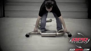 APR MK6 GTI RSC Exhaust Straight Through Design - Golf ball Test.