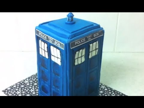 Doctor Who TARDIS Cake how to YouTube