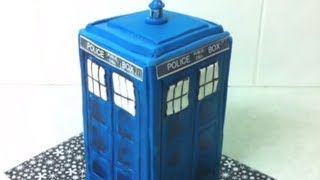 Doctor Who Tardis Cake - How To