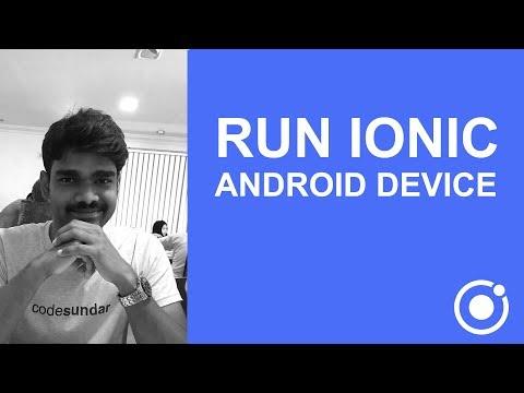 ionic cordova run on emulator
