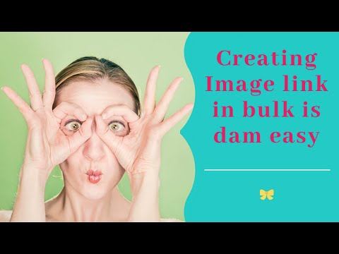 How to Create Image Link in Bulk