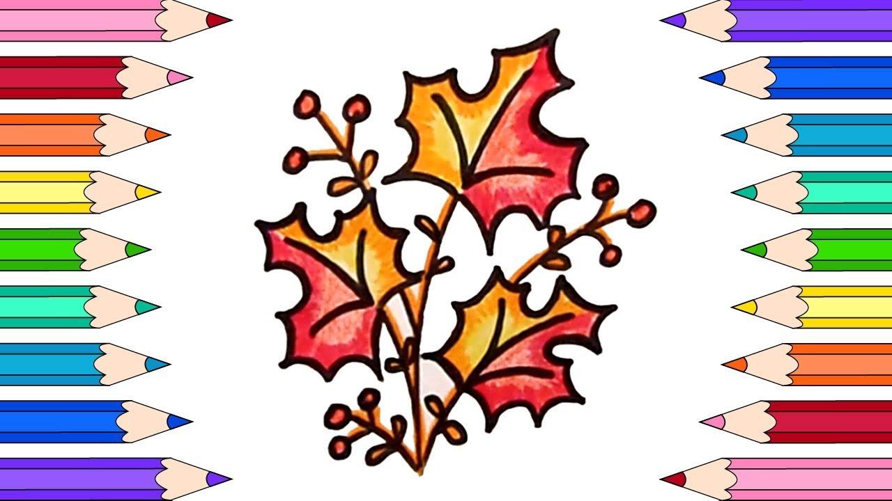 Как Нарисовать Осенний Букет💐Раскраски для Детей Осенний ...