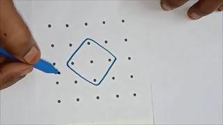 5  Pulli Sikku/Kambi Kolam | 5 dots melikala muggulu