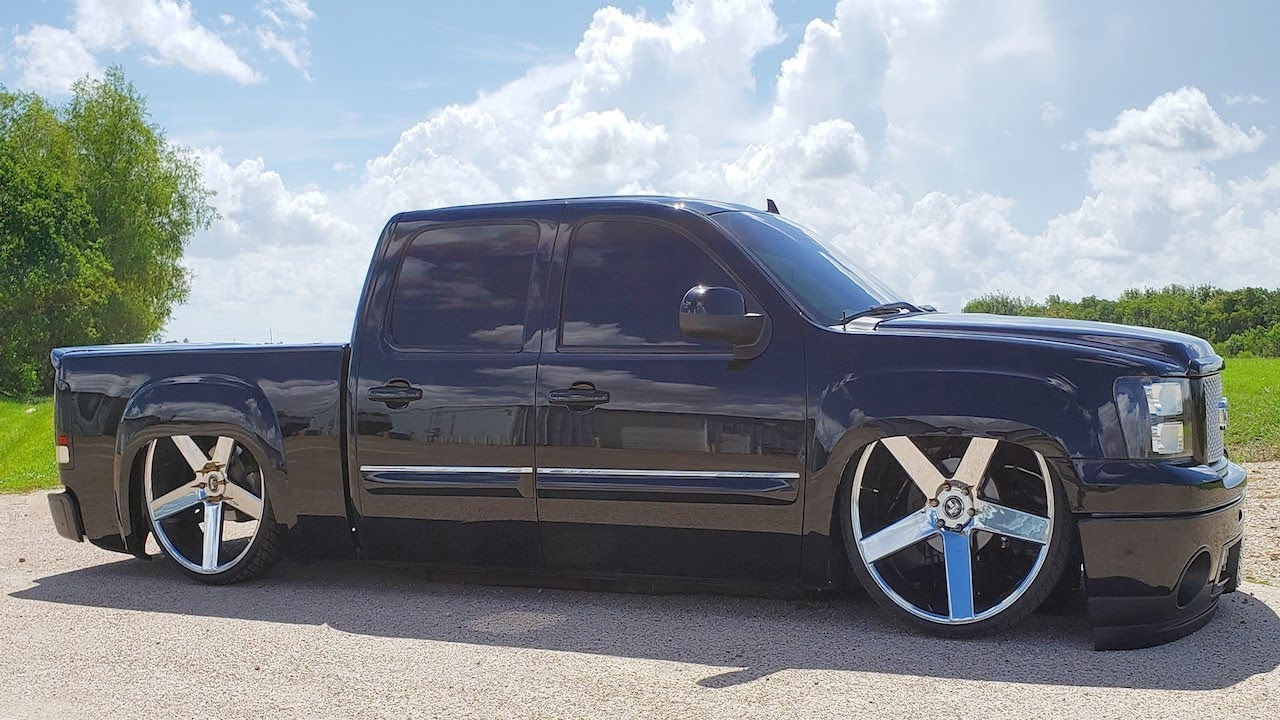 "Gmc Denali Bagged on 28"" Dubs 3 Link Wishbone Suspension ..."