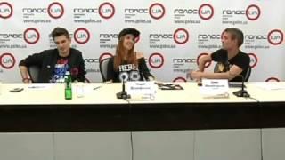Онлайн-конференция участников группы Время и Стекло на «ГолосUA»