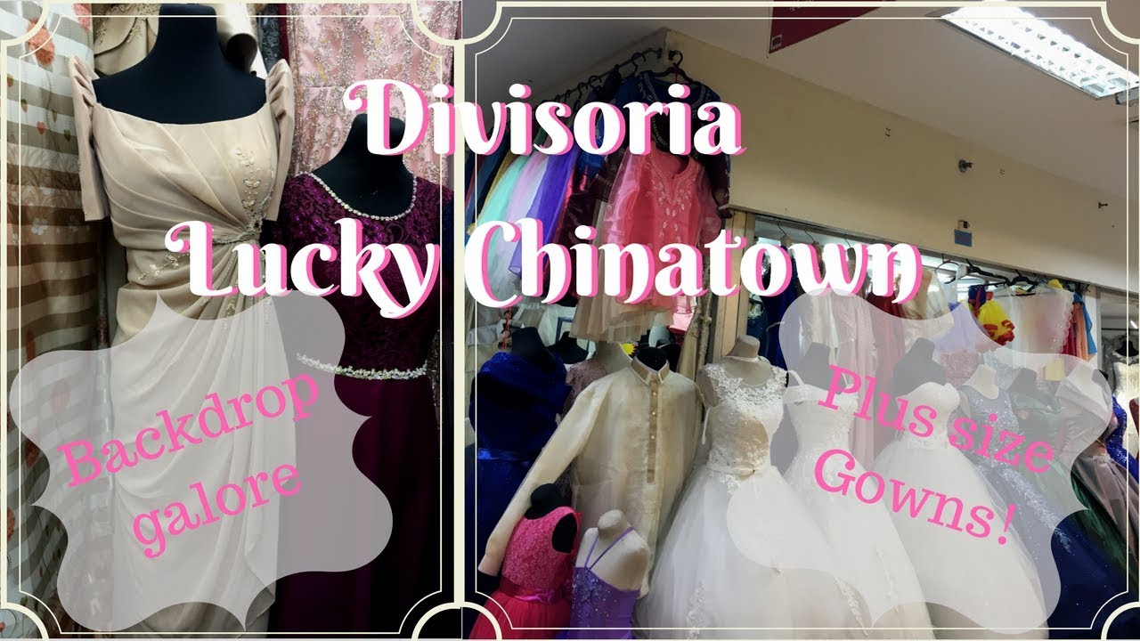 WHERE TO BUY PLUS SIZE GOWNS, BACKDROP at Divisoria & Lucky ...