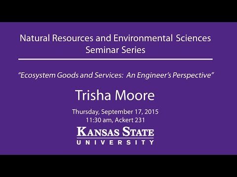 Ecosystem Goods and Services:  An Engineer's Perspective - NRES Seminar Series