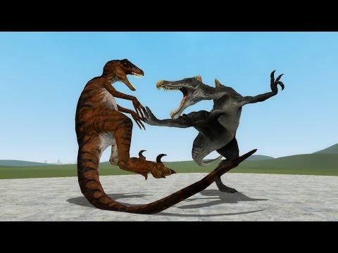 Spinosaurus vs Albertosaurus - Jurassic Park Warpath