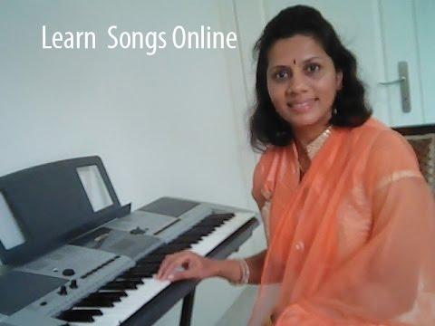 Learn kannada songs on keyboard no 1 Munjanedduu Kumbaranna with notations in the description