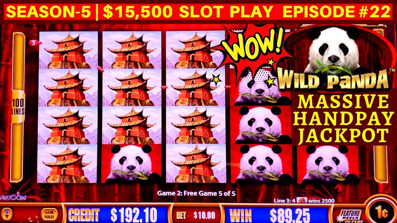 Over 1000x Massive Handpay Jackpot On Wonder 4 WILD PANDA Slot Machine  | SEASON 5 | EPISODE #22