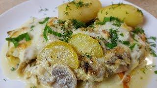 Кабачки 🍆с грибами 🍄в сметанном соусе,😋 цыганка готовит.Gipsy cuisine.