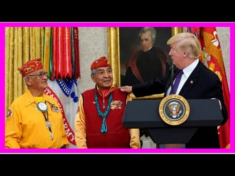 Latest News Today - While honouring veterans of native American, trump his lobs to offend Native Am