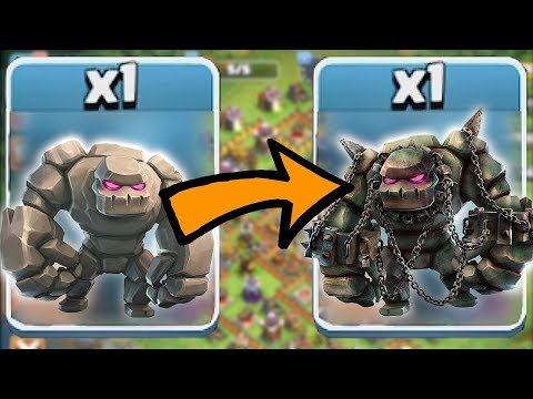 Thumbnail: SCARY GOLEM TANK | Clash of clans | GIANTS AND GOLEM RAIDS