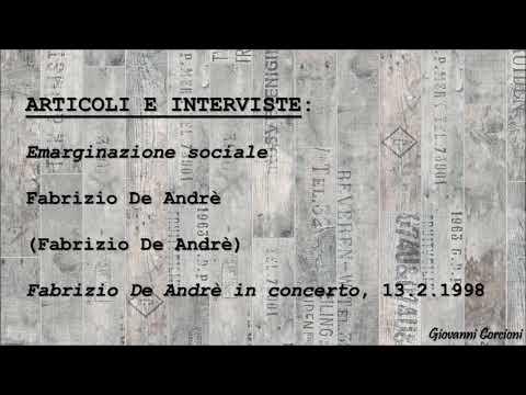 Fabrizio De Andrè - Emarginazione sociale