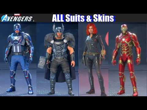 Marvel's Avengers - ALL Unlockable Suits & Skins (Outfits Showcase) from YouTube · Duration:  15 minutes 13 seconds