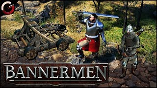 MEDIEVAL REAL TIME STRATEGY GAME! Multiplayer Match 1vs1 | Bannermen Gameplay