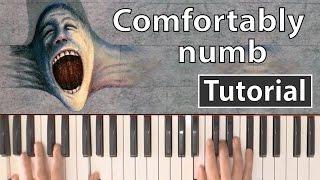 """Como tocar """"Comfortably numb""""(Pink Floyd) - Piano tutorial y partitura"""