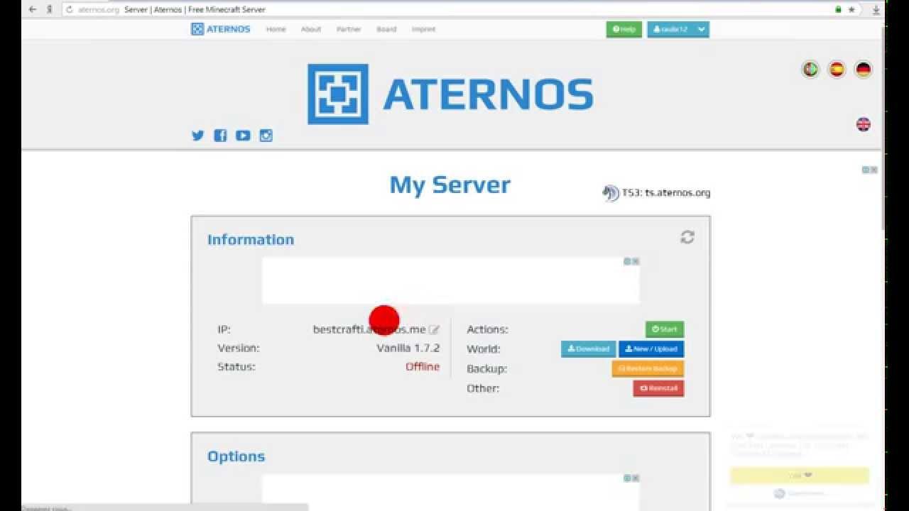 Бесплатный хостинг майнкрафт сервера 1.7.2 автоплюс офециальный сайт