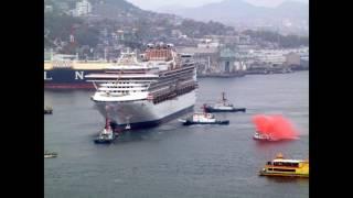 2002年から2003年長崎港での客船