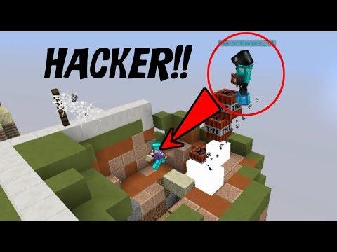 👉 DOY CREATIVO A HACKERS Y LOS TROLLEO EN SKYWARS!! - Minecraft
