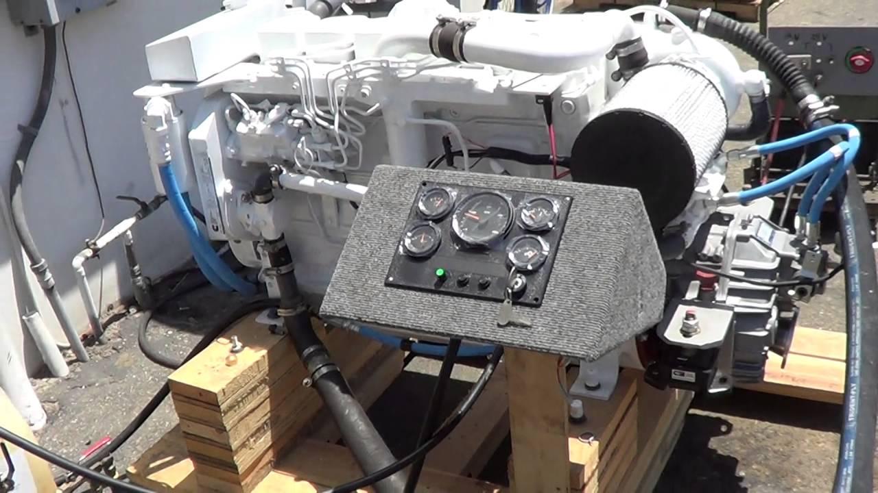 cummins marine 6bt 210 zf 63a engine test for mr steve. Black Bedroom Furniture Sets. Home Design Ideas