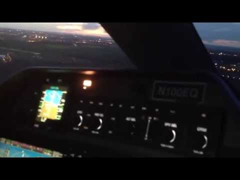 Paris Night Landing in Phenom 100 back from Germany