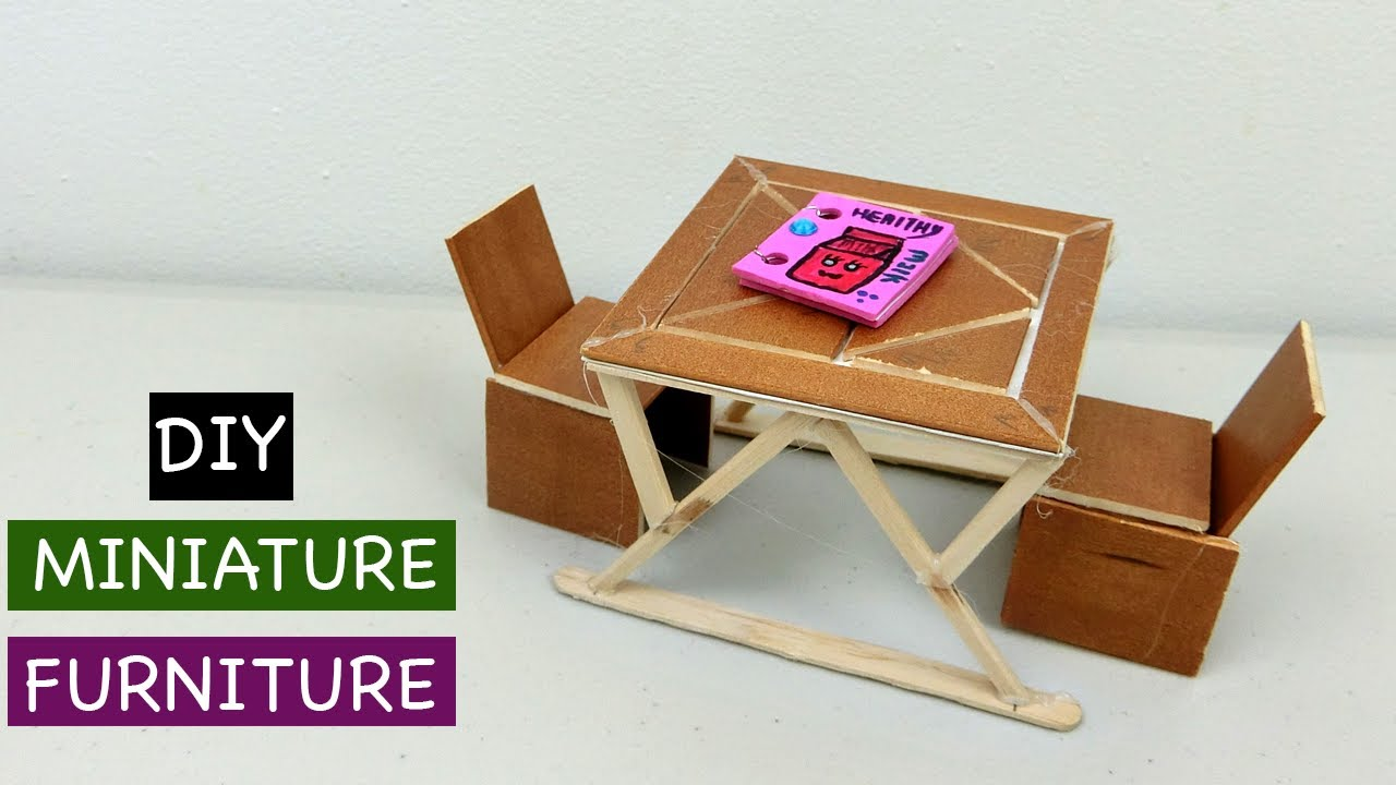 DIY Miniature Wooden Table and Chair #8 - Simple Craft ideas & DIY project