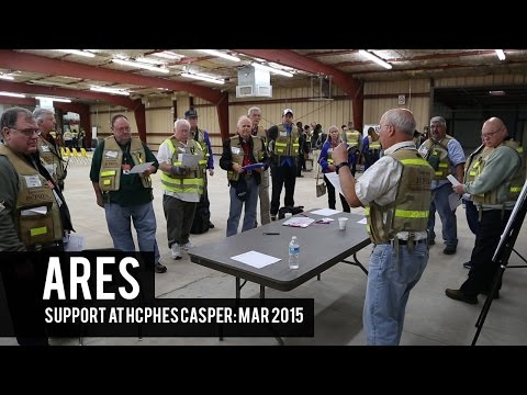 ARES (Amateur Radio Emergency Service) Support at HCPHES CASPER: Mar 2015