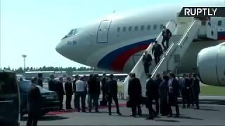 Прилетел и сел в «Кортеж»: Путин поехал на встречу с Трампом на новом лимузине