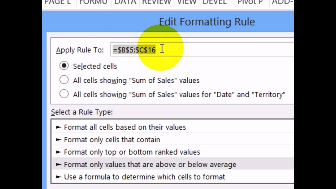 How to Highlight Pivot Table Cells With Conditional Formatting