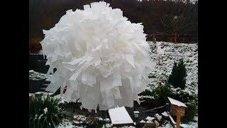 Делаем большой ''снежный шар'' из бумажных салфеток. Идеи на Новый Год