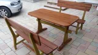 Outdoor rustic furniture set