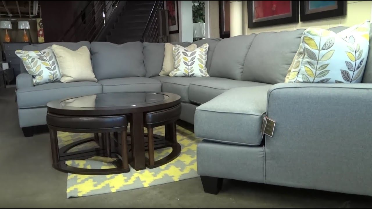 Marvelous Ashley Furniture Chamberly Alloy Sectional 243 Review   YouTube