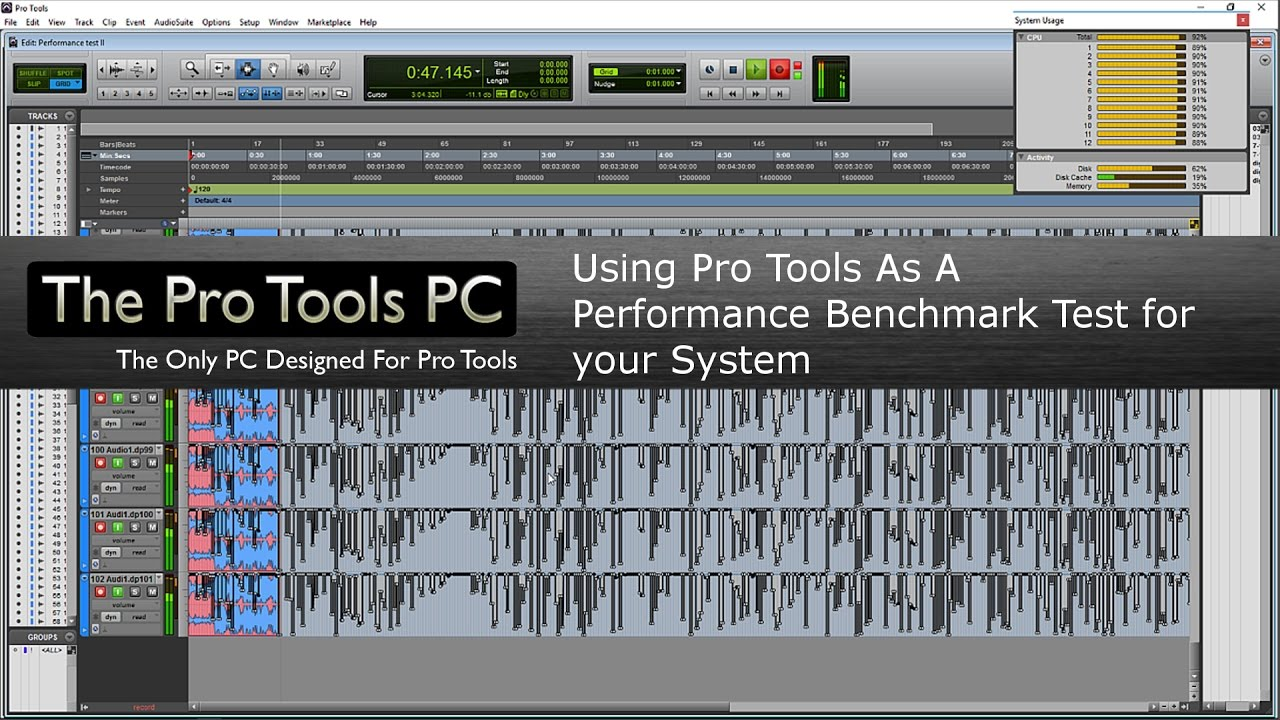 Performance Testing With Pro Tools - The Pro Tools PC