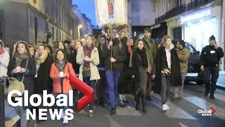 Notre Dame fire: Thousands march through Paris streets in solidarity